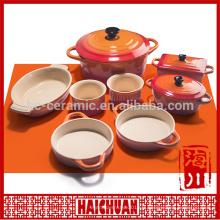 Bakeware pet Bowl Pot de fleurs Ensemble de vaisselle Set de 3 tasses