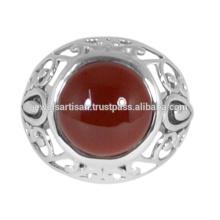 Designer Red Onyx Edelstein 925 Sterling Silber Ring