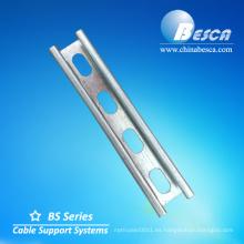 Suspensión de montaje del canal Unistrut Bandeja del cable del canal C