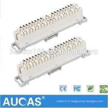 Hot Sales Cable Telephone RJ11 Raccordement de 10 Pair Krone Module Fit To Telephone Distribution Box