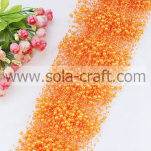 Orange couleurs artificiel guirlande de perles perle Faux avec 3 + 8MM Perles