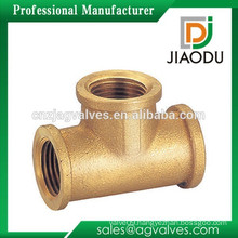 Zhejiang manufacturer high quality forged original brass color customized npt female threaded casting brass pipe fitting