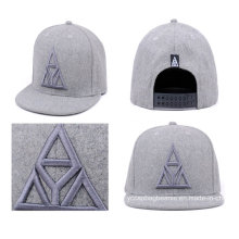 Chapéu feito sob encomenda da venda por atacado lisa da conta com bordado 3D