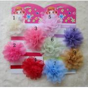 Bebek çocuk çiçek deliği şifon delik dantel çiçek düz geri yok klip kafa bandı çiçek DIY fotoğraf'den aksesuarlar