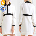 Office Lady Hot Sale White And Black Long Sleeve Mini Summer Dress Manufacture Wholesale Fashion Women Apparel (TA0312D)