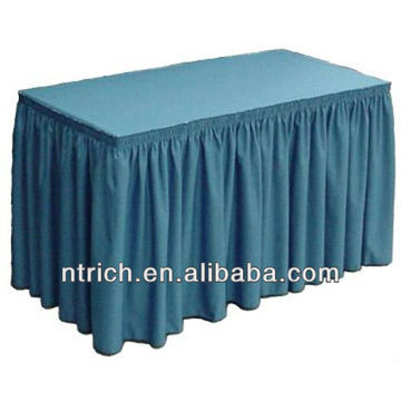 Boîte de plis table jupes, jupes de table polyester, jupe de table