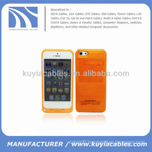 External Battery Power Case for iPhone 5c 2200mAh Orange