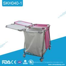 Chariot d'instrument médical d'acier inoxydable de SKH040-1 avec des tiroirs