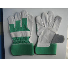 Green Cow Split Leather Full Palm Working Glove-3056.04