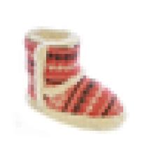 Chaussures en cachemire souriantes en hiver