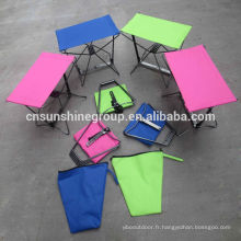Chaise pliante de poche pêche de loisir en plein air
