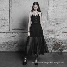 Chiffon Dress Sexy Designer Summer Dresses Goth Strap Lace Plus Size Short Sleeve Spandex / Cotton Vintage Plain Dyed Adults