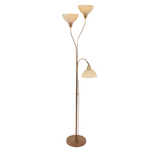 3 lights glass shade floor lamp