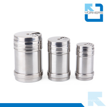 Multi-Size Stainless Steel Storage Bottle Storage Pot Toothpick Holder