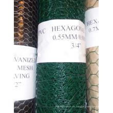 """PVC revestido Hexagonal Wire Mesh em 1/2 """"a 2"""""""