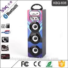 BBQ 15W 1200mAh battery 2016 newst Wooden 3 woofer portable Bluetooth speaker