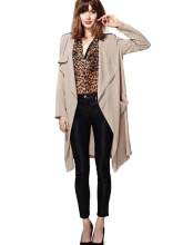 New Fashion Women Spring Autumn Solid Long Sleeve Cardigan Coat