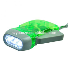 dynamo led flashlight, hand pressing flashlight, hand crank flashlight