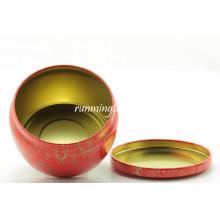 Japanese tinplate material tea canister/tea caddy for Matcha tea