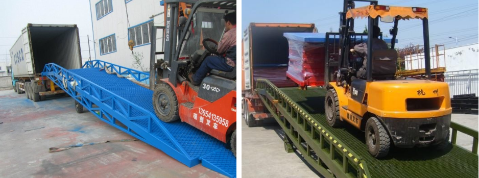 Adjustable Mobile Hydraulic Container Dock Loading Ramp