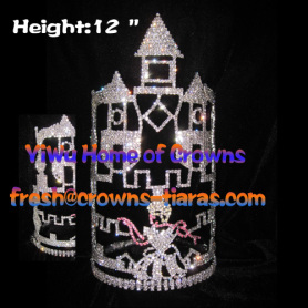 12inch Cinderella Castle Crystal Pageant Crowns
