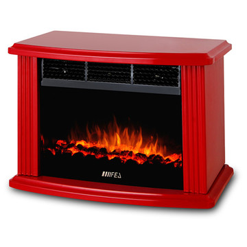 Red-Electric Mini Fireplace