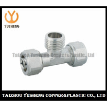 T-Joint Forged Brass and Stainless Steel Pipe Fittings for Pex-Al-Pex (YS3310)