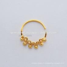 Bijoux ethniques pour bijoux à anneaux septiques, créateurs de bijoux à crémaillère à crémaillère, bijoux en orignal indien