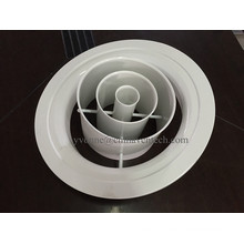 Buse à jet en aluminium à anneau réglable de diffuseur d'air rond d'usine