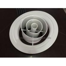 На заводе круглый воздушный диффузор регулируемое кольцо из алюминия форсунки