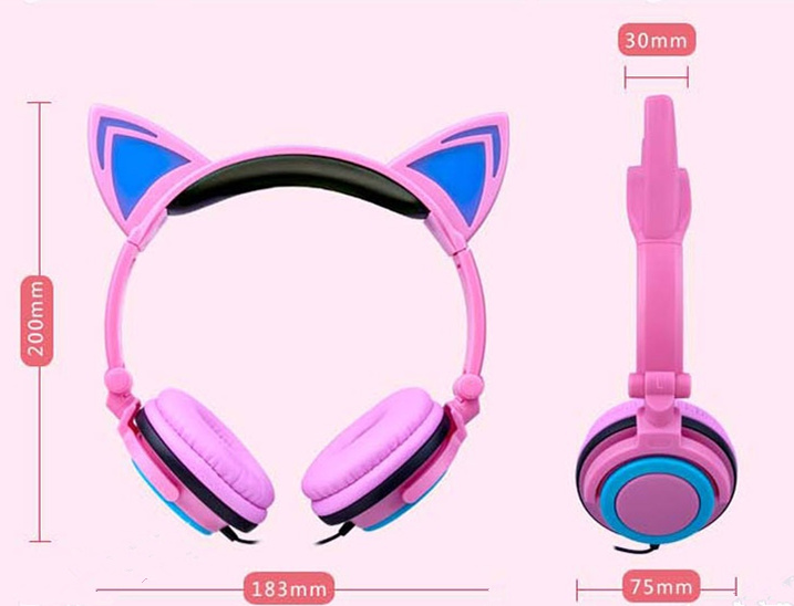 cat earphone dimension