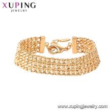 75796 xuping moda corrente senhoras ouro 18k pulseira jóias