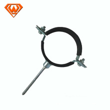 carbon steel pipe clamp with or without rubber manufacturer