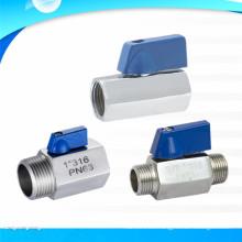 Fabricante de China de la mini válvula de bola del hilo de rosca de sexo masculino