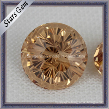 Low Price Loose Champagne Zirconia Gemstone