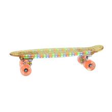 monopatín verde skateboard al por mayor de plástico LED