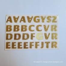 A Z Words Adhesive Letters Custom Mini Stickers,Custom Crystals Alphabet Letters Glitter Sticker
