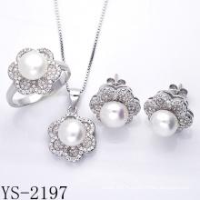 Usine en gros 925 Sterling Silver Pearl Jewelry Set.