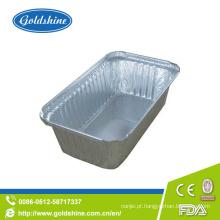 Recipientes para embalagens de alumínio descartáveis em alumínio