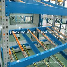 Gravidade, armazenamento mental ajustável de Jracking Q345 sistema industrial da cremalheira do fluxo da gravidade