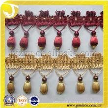 Nuevo diseño franjas franjadas para los accesorios de la decoración de la casa