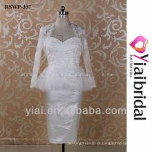 RSWP337 encaje vestido de boda corto de la chaqueta