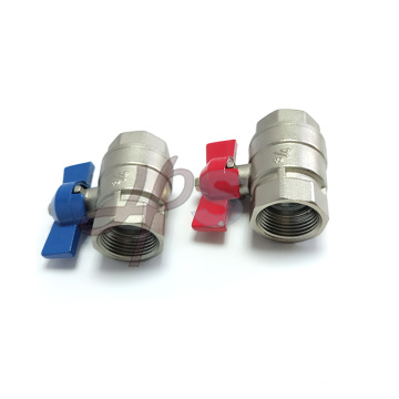 Brass full port ball valve for cold or hot water