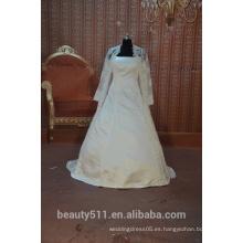 EN STOCK vestido de novia de manga larga el vestido de novia de vestido de bola musulmán SW06
