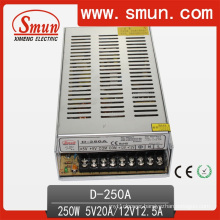 D-250A 5V 12V 250W Dual Output Switching Power Supply