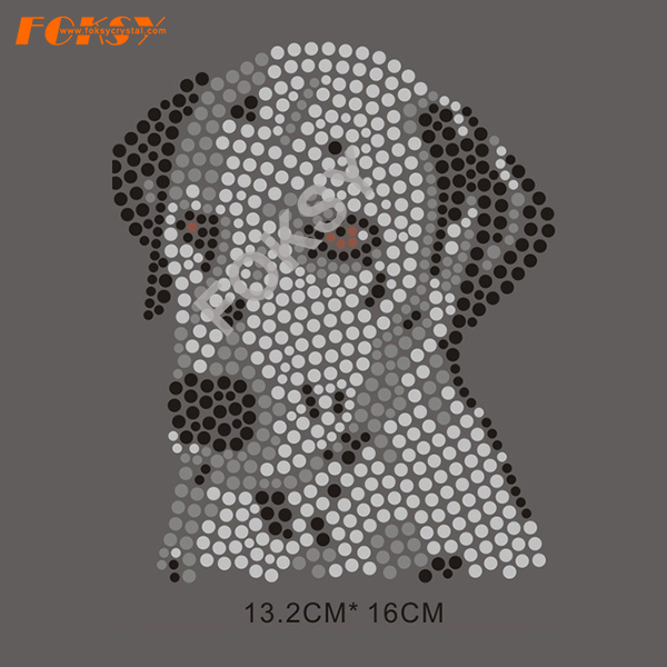 Hot Sale Iron på Rhinestone Dog Motif Designs