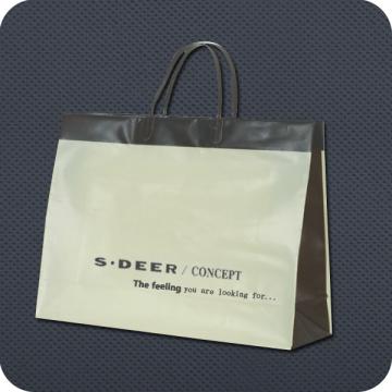 Bolsa de compras de embalagem de plástico de manípulo de luxo
