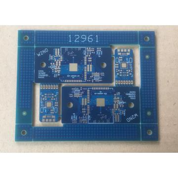 4 layer Blue Solder PCB with standard stack PCB