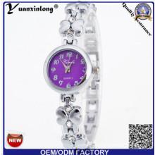 YXL-809 corte vidrio delgado piedra moda Vogue señoras reloj de pulsera de lujo