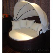 2015 aluminio playa mimbre al aire libre una cama